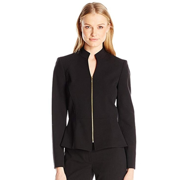Levine Womens Missy Bistretch Jacket with Flyaway Collar Tahari by Arthur S